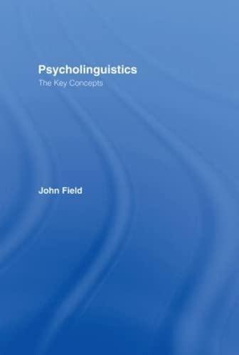 9780415258906: Psycholinguistics: The Key Concepts (Routledge Key Guides)