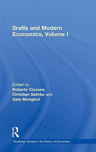 9780415259996: Sraffa and Modern Economics, Volume I (Routledge Studies in the History of Economics)