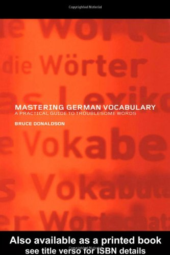 9780415261142: Mastering German Vocabulary: A Practical Guide to Troublesome Words
