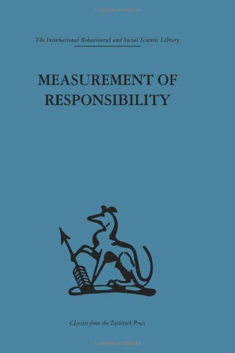 9780415264433: Measurement of Responsibility: A study of work, payment, and individual capacity (International Behavioural and Social Sciences, Classics from the Tavistock Press) (Volume 59)