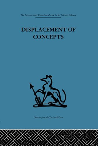 9780415264860: International Behavioural and Social Sciences Library: Displacement of Concepts (International Behavioural and Social Sciences, Classics from the Tavistock Press)