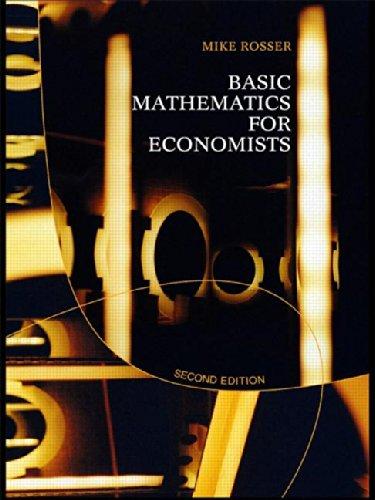 9780415267830: Basic Mathematics for Economists