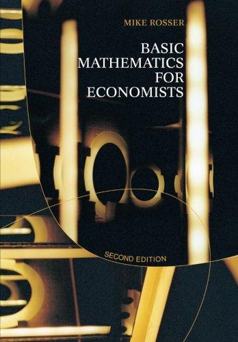 9780415267847: Basic Mathematics for Economists