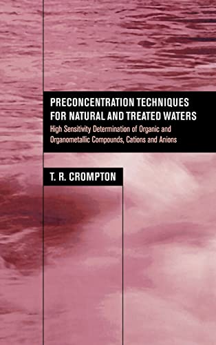 9780415268110: Preconcentration Techniques for Natural and Treated Waters: High Sensitivity Determination of Organic and Organometallic Compounds, Cations and Anions