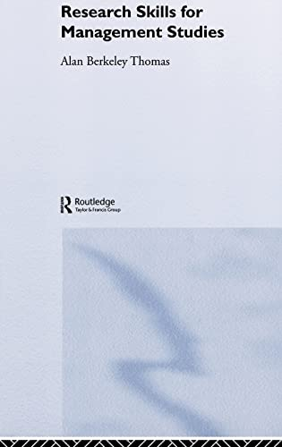 9780415268981: Research Skills for Management Studies