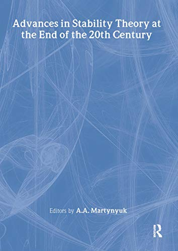 9780415269629: Advances in Stability Theory at the End of the 20th Century (Stability and Control: Theory, Methods and Applications)