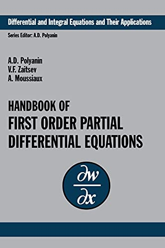 9780415272674: Handbook of First-Order Partial Differential Equations (Differential and Integral Equations and Their Applications) (v. 1)