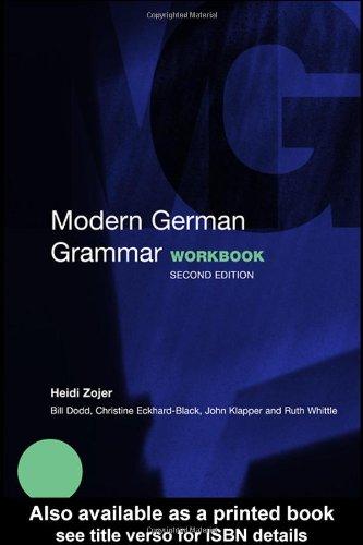9780415273022: Modern German Grammar Workbook (Modern Grammar Workbooks)