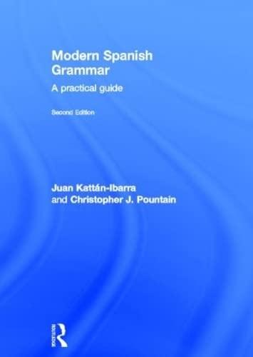 9780415273039: Modern Spanish Grammar: A Practical Guide (Routledge Grammars)