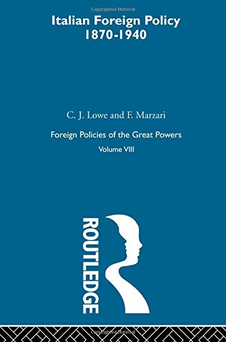 9780415273725: Foreign Policies of the Great Powers: Ital Foreign Pol 1870-1940  V8