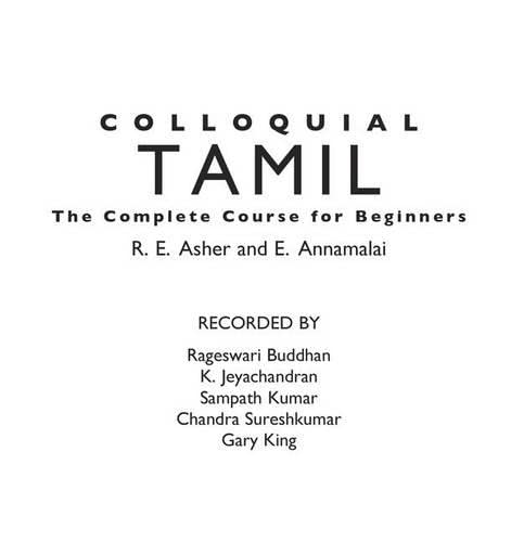 9780415276771: Colloquial Tamil: The Complete Course for Beginners (Colloquial Series)