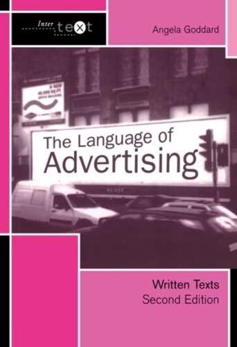 9780415278027: The Language of Advertising: Written Texts (Intertext)