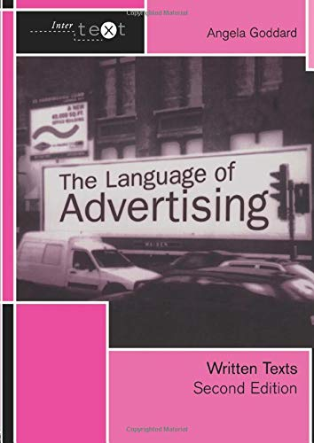 9780415278034: The Language of Advertising: Written Texts