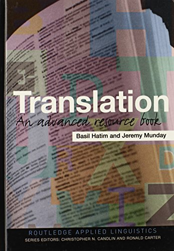 9780415283052: Translation: An Advanced Resource Book (Routledge Applied Linguistics)