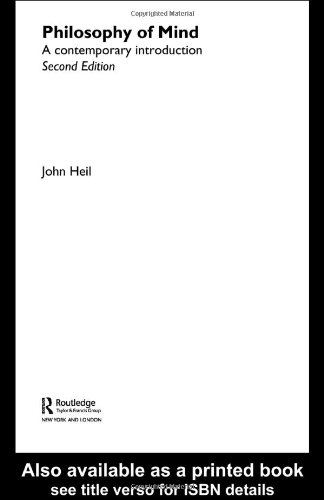 9780415283564: Philosophy of Mind: A Contemporary Introduction (Routledge Contemporary Introductions to Philosophy)