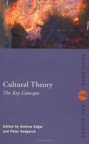 Cultural Theory: The Key Concepts (Routledge Key: P. Sedgewick