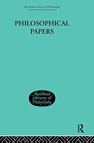 9780415295512: Muirhead Library of Philosophy (95 volumes): Philosophical Papers