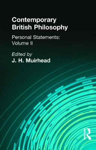 9780415295550: Contemporary British Philosophy: Personal Statements Second Series (Muirhead Library of Philosophy) (Volume 14)