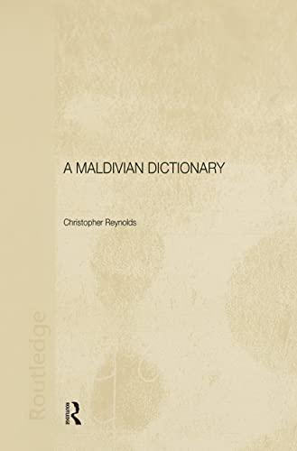 9780415298087: A Maldivian Dictionary