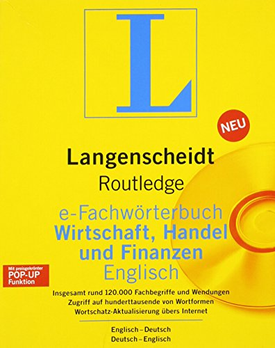 Routledge German Dictionary of Business, Commerce and Finance Worterbuch Fur Wirtschaft, Handel und Finanzen: Deutsch-Englisch/Englisch-Deutsch ... (Routledge Bilingual Specialist Dictionaries) (9780415302371) by Langenscheidt Publishers; Langenscheidt