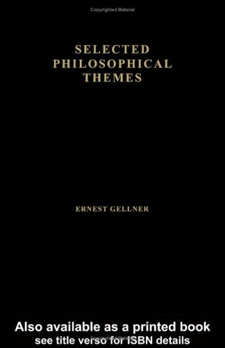 9780415302951: Ernest Gellner, Selected Philosophical Themes