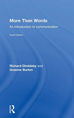 9780415303828: More Than Words: An Introduction to Communication