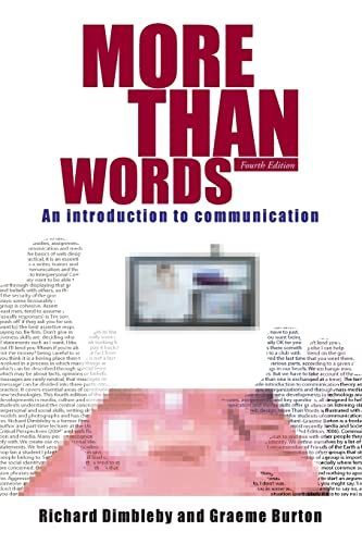 9780415303835: More Than Words: An Introduction to Communication
