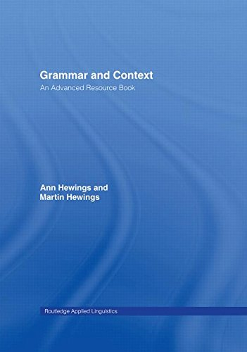 9780415310802: Grammar and Context: An Advanced Resource Book (Routledge Applied Linguistics)