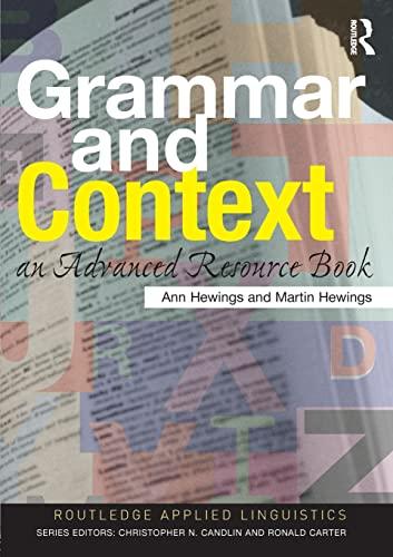9780415310819: Grammar and Context: An Advanced Resource Book (Routledge Applied Linguistics)