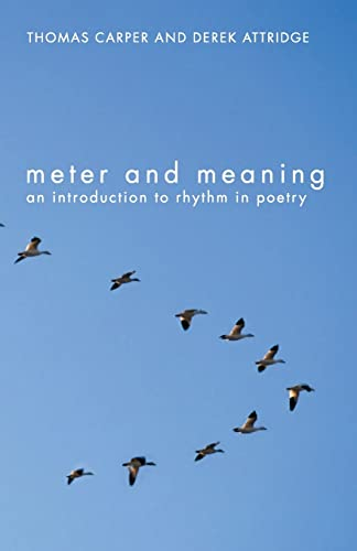 9780415311755: Meter and Meaning: An Introduction to Rhythm in Poetry