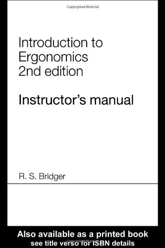 9780415312660: Instructor's Manual for Introduction to Ergonomics