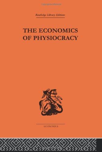 9780415313322: Routledge Library Editions: Economics: Economics of Physiocracy (Routledge Library Editions: The Economics)