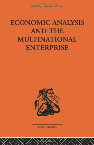 9780415313582: Economic Analysis and Multinational Enterprise