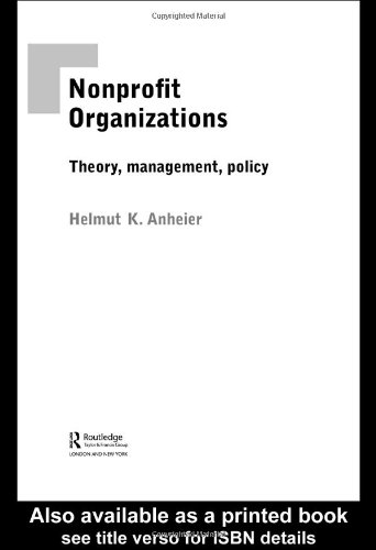 9780415314190: Nonprofit Organizations: An Introduction: Theory, Management, Policy
