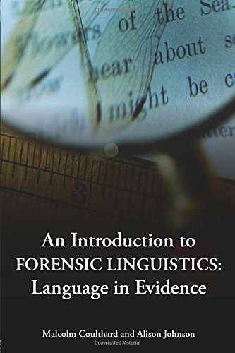 9780415320238: An Introduction to Forensic Linguistics: Language in Evidence