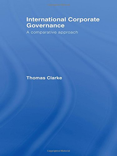 9780415323093: International Corporate Governance: A Comparative Approach