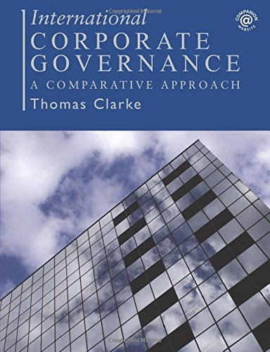 9780415323109: International Corporate Governance: A Comparative Approach