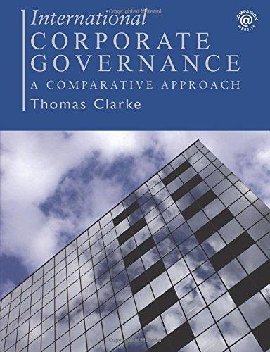 9780415323109: International Corporate Governance: A Comparative Approach