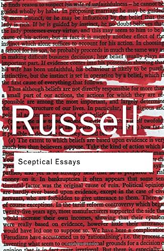 9780415325080: RC Series Bundle: Sceptical Essays (Routledge Classics)