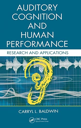 9780415325943: Auditory Cognition and Human Performance: Research and Applications