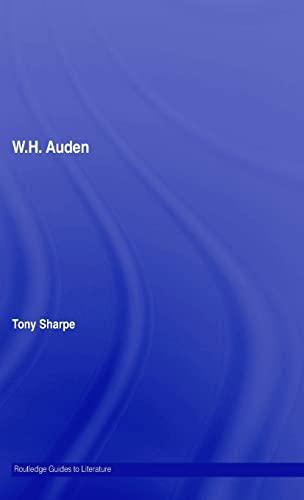 9780415327350: W.H. Auden (Routledge Guides to Literature)