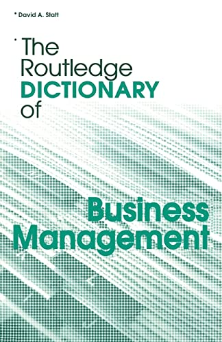 9780415328197: The Routledge Dictionary of Business Management (Routledge Dictionaries)