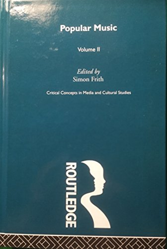 Popular Music Crit Conc Cult Vol2 (Hardback): Frith