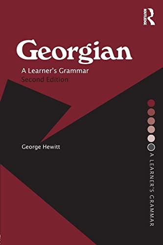 9780415333719: Georgian: A Learner's Grammar (Routledge Essential Grammars)