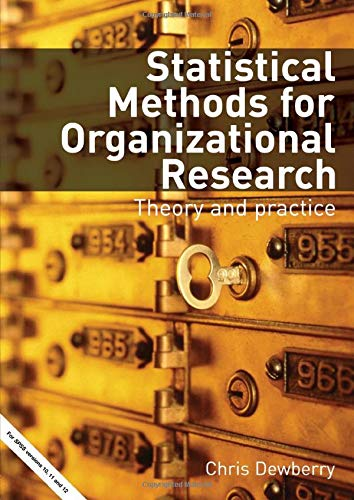9780415334259: Statistical Methods for Organizational Research: Theory and Practice