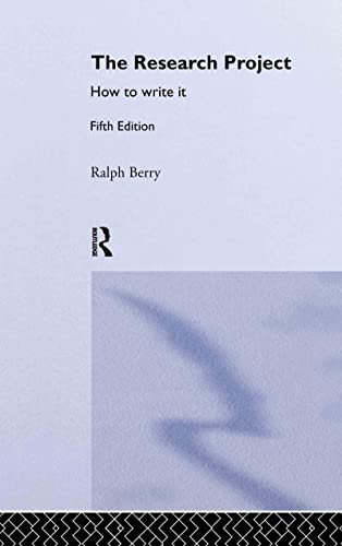 9780415334440: The Research Project: How to Write It, Edition 5 (Routledge Study Guides)