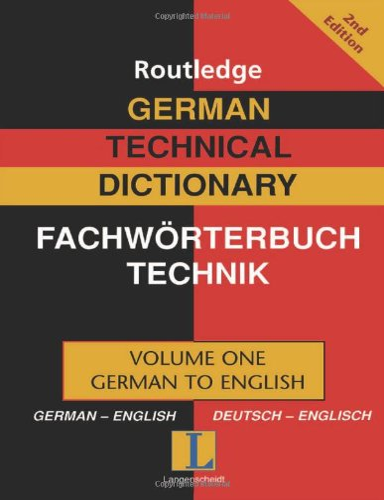9780415335867: German Technical Dictionary (Volume 1)