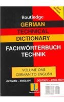 9780415335881: German Technical Dictionary (Volumes 1 and 2): v. 1 & 2 (Routledge Bilingual Specialist Dictionaries)