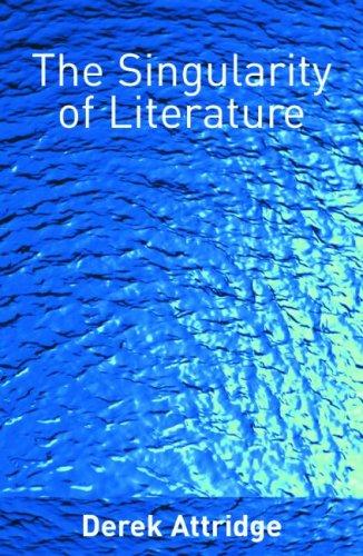9780415335928: The Singularity of Literature