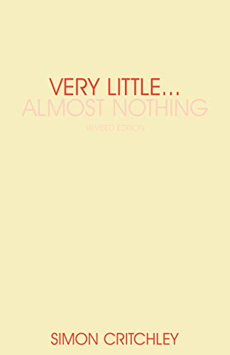 9780415340496: Very Little . . . Almost Nothing: Death, Philosophy and Literature (Warwick Studies in European Philosophy)